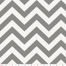 White and Gray Zig Zag Fabric by the Yard | Gray Fabric | Carousel ...